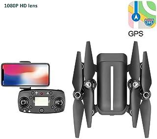 LUQ-DR Mini Drone Quadcopter Control Remoto Aeronave Antena 4K HD GPS Posicionamiento Inteligente Batería de Larga duración Vuelo de Retorno bajo Plegable Portátil,B