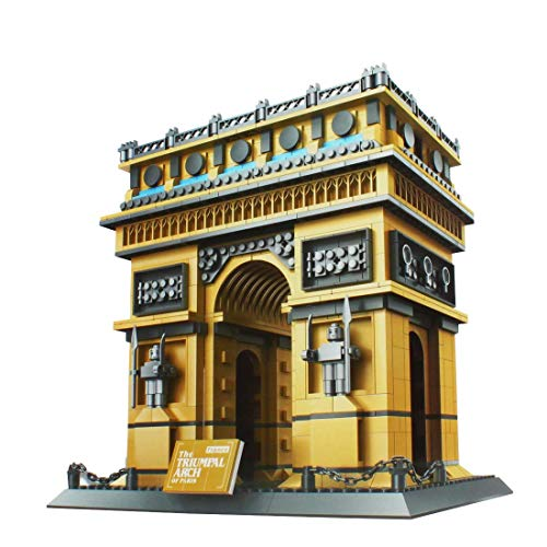 Larcele 1401 Piezas Edificio de Fama Mundial Conjunto de Ladrillos de Bloques Set de Juguetes de Construcción para Niños y Adultos KLJM-03 (Arco del Triunfo, Francia)