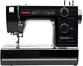Janome Industrial-Grade Aluminum-Body HD1000 Black Edition Sewing Machine with 14 Stitches, 4-Step Buttonhole, Automatic Needle Threader and Drop Feed