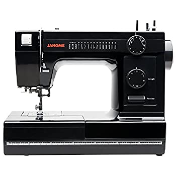 Janome Industrial-Grade Aluminum-Body HD1000 Black Edition Sewing Machine with 14 Stitches 4-Step Buttonhole Automatic Needle Threader and Drop Feed