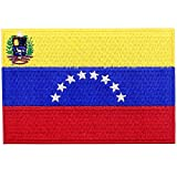 EmbTao Venezuela Flagge Bestickter Aufnäher zum Aufbügeln/Annähen