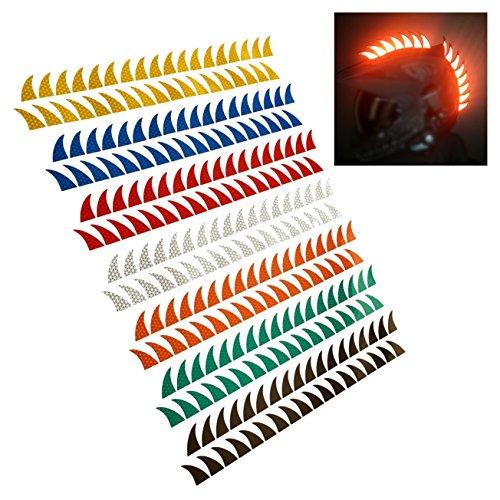 customTAYLOR33 Warhawk/Mohawk Aufkleber (Gummi Warhawk & Helm nicht im Lieferumfang enthalten) viele Farben (Special Edition Limettengrün)