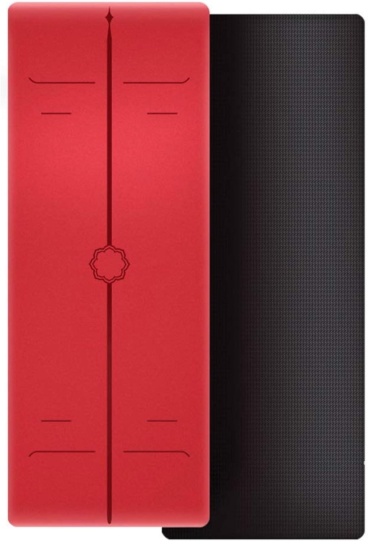 DGLIYJ Yoga-übungsmatte TPE Slip 5mm Dicke Familie Fitness Sport Anfnger Pad Gre  183cm × 66cm (Mehrfarbig Optional)