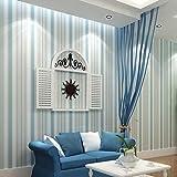 Papel pintado moderno moda horizontal blanco azul raya papel pintado vertical niño niño pared salón dormitorio R107 Pvc 1㎡ personalizable Huzi