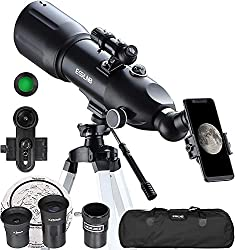 small ESSLNB Telescope for Adults 80mm astronomical telescope with 10X phone for children astronomy beginners …
