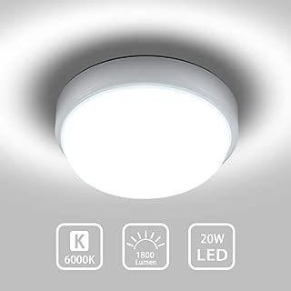 HQCHAM LED Ceiling Light Flush Mount 20W Round LED Ceiling Lamp Cool White 6000K 1800LM 80W Equivalent Ceiling Lighting for Kitchen Bedroom Bathroom Hallway Stairway 8'' CRI80