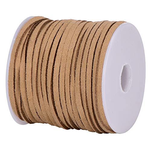 DonDon Cinta de terciopelo de 3 mm - DIY Rollo de 30 metros - castaño claro