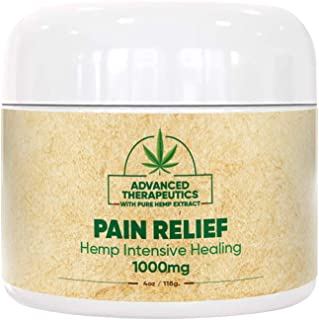 1000 MG 4 Ounce Hemp Cream for Fast Pain Relief - Double The Size and Power of All Other Arnica Cream Infused with 1000MG of Hemp Oil for Pain Relief of Knee Pain, Back Pain