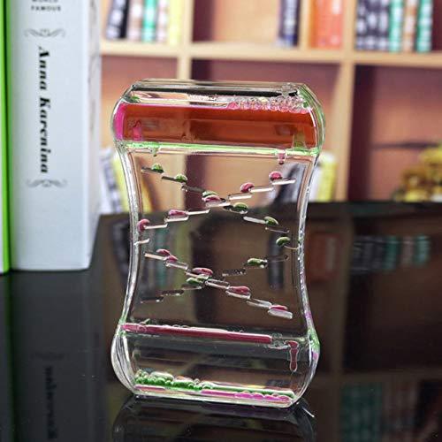 Gouttelettes d'huile liquide Fuite d'eau dynamique Sablier Bulle Ornements Cadeau d'anniversaire pour enfants Femmes (aléatoire) FRjasnyfall