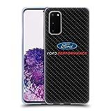 Head Case Designs Offizielle Ford Motor Company Performance Carbonfaser Logos Soft Gel Handyhülle Hülle Huelle kompatibel mit Samsung Galaxy S20 / S20 5G