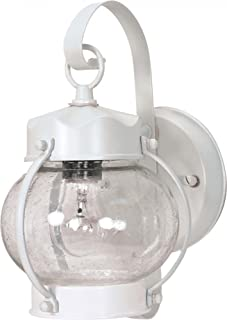 Nuvo 60/630 Onion Lantern with Clear Seed Glass, White