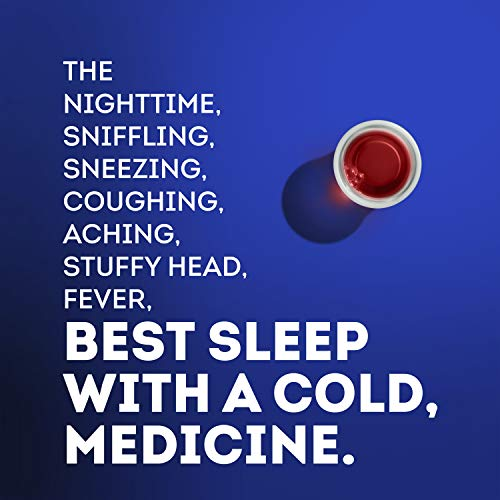 Vicks NyQuil SEVERE, Nighttime Relief of Cough, Cold & Flu Relief, Sore Throat, Fever, & Congestion Relief, Berry Flavor, Twin Pack, 12 FL OZ