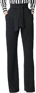 سروال Palazzo طويل للنساء من GUOLEZEEV سروال واسع الساق مع حزام خصر