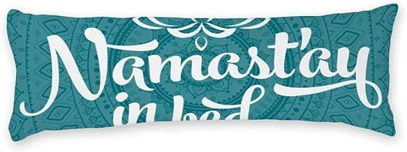 AILOVYO Mandala Teal Long Body Pillow Case Cover Silky Shiny Satin Body Pillow Cover Custom Material 20