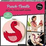 Mein Punch-Needle Starter-Set 'Flamingo': mit der Stanznadel sticken (100% selbst gemacht)