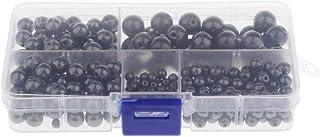 F Fityle Caja de 300pcs Perlas Naturales de Hematita Superfi