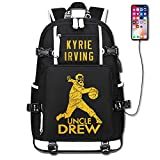 ShangYing's Store Basketball Player Star Irving Multifunction Luminous Backpack Student Fans Schoolbag (Black Style 7)