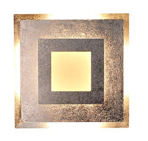 Luce Ambiente Design Window M Wohnraumleuchte, Metall, 18 W, Silber, 32 x 32 x 5.5 cm