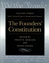The Founders' Constitution, Volume 3