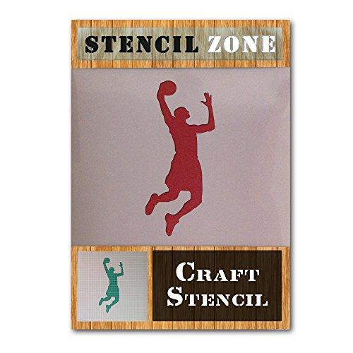 NBA Deporte Jugador de Mylar aerógrafo Pintura Mural Art Crafts de la plantilla 1 (A6 Tamaño de la plantilla - XXSmall)