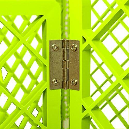 Iris Ohyama 531165 Parc pour chien/cage d'extérieur/enclos/chenil, 8 éléments, vert-Pet Circle H-908, 8 panneaux: 60 x 86 cm