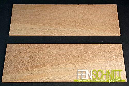 Massivholz Mahagoni (450 x 150 x 10 mm (2 Stück))