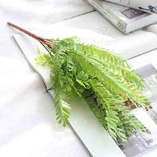 GGDMLJH Kunstmatige nep bloem 1 stks Echte Plant Varen Simulatie Plant Groen Blad Creatieve Flexibele Lijm Groene Plant Thuis Kantoor Bruiloft Decor lente groen