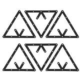 Estante de Billar, 6 Unids/Set Triángulo Estante de la Bola de la Mesa de Billar Estante de posicionamiento Accesorio de Billar