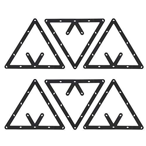 Estante de Billar, 6 Unids/Set Triángulo Estante de la Bola de la Mesa de Billar Estante de posicionamiento Accesorio de Billar ⭐