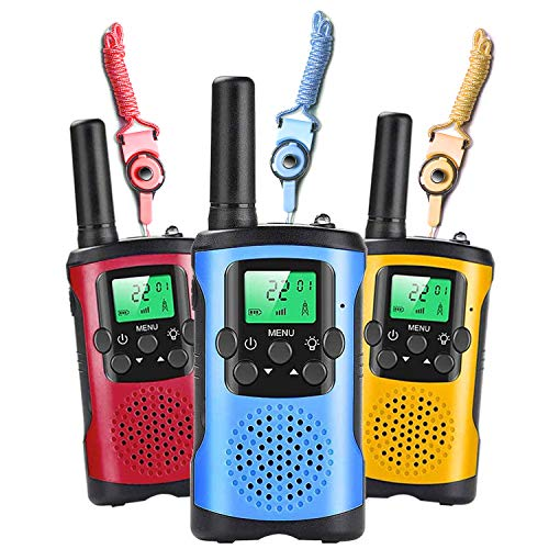 Walkie Talkies for Kids, 22 Channels 2 Way Radio 3 Miles Long Range Walkie with Backlit LCD Flashlight, Suitable for 3-12 Year Old Boys and Girls for Outdoor Camping, Entertainment Toys, Best Gifts