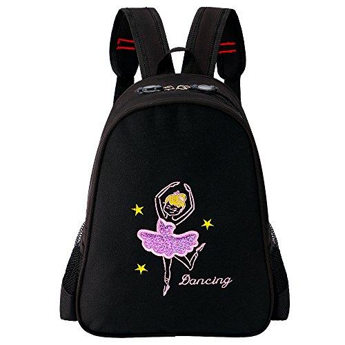 ZNYUNE Kinder Mädchen Balletttasche Rucksack Kinderrucksack mit bestickter Oberseite für Ballett Gym Fitness Tanz Wasserdicht Sporttasche