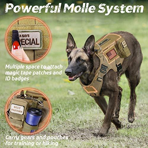 Rabbitgoo Tactical Dog Harness Vest