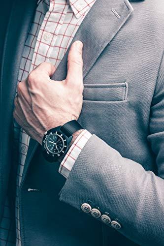 Marathon Navigator Swiss Made Military Issue Pilot's Watch with Date, Tritium, Sapphire Crystal, Steel Crown, Battery Hatch, ETAF06 Movement (41mm) (Black - US Government Markings)