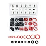ZYAMY 1 Pack of 141pcs 18 Different Sizes Rubber Sealing Washer Plumbing O-Ring Gasket Assortment Kit