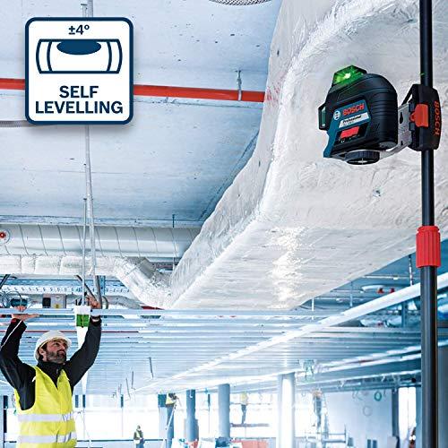 Bosch Professional Linienlaser GLL 3-80 G (grüner Laser, max. Arbeitsbereich: 30 m, 4x AA Batterie, im Handwerkerkoffer) - 2