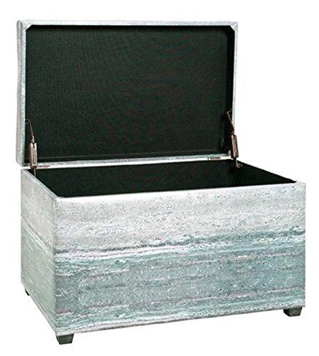 PEGANE Coffre de Rangement Coloris Gris - Dim : L 65 x P 40 x H 42 cm