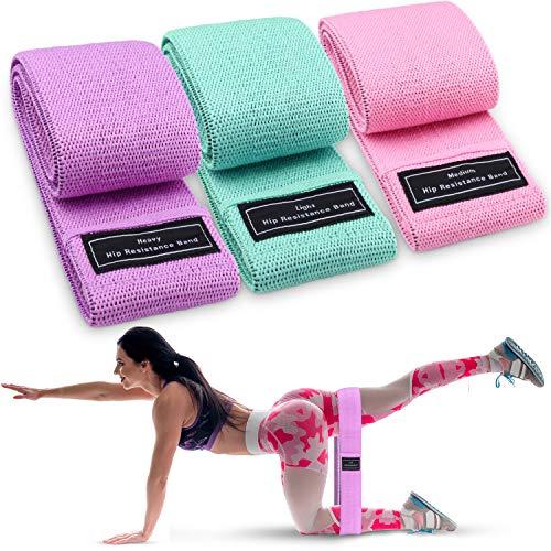 osloon Fascia Elastica, Fascia di Resistenza, Adatta per 3 Livelli di Fitness, Gambe e Fianchi Antiscivolo, Pilates, Yoga, Fisioterapia, Stretching