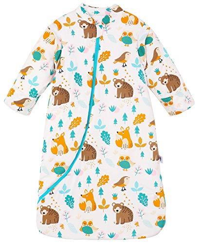 SOOKU Baby Cotton Sleeping Bag, Newborn Baby Unisex Winter Thick Sleeping Bags Cartoon Bunting Bag Wearable Blanket (M-28-34 Height of Child)
