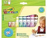 Crayola Mini Kids, Pennarelli Super Lavabili, 12 Pezzi, Punta Arrotondata di Sicurezza, Età 12 Mesi, Colori Assortiti, 8325