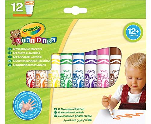 Crayola Mini Kids - Loisirs Créatifs - 12 feutres lavables - dès 1 an