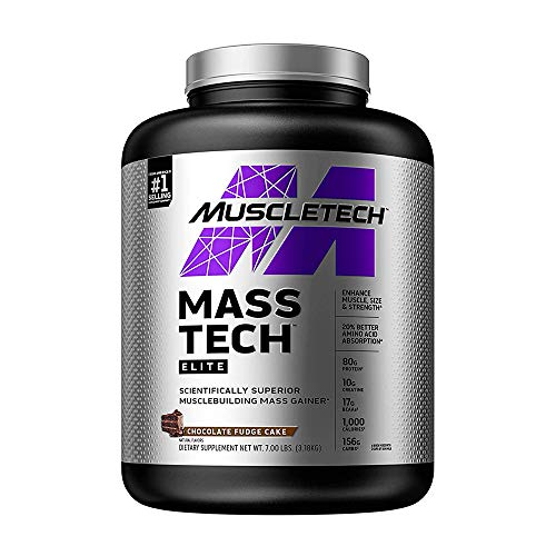 Muscletech Performance Series Mass Tech (Intra-Workout, 60g Protein, 132g Carbs, 820 Calories, 13g BCAAs, 6.2g Leucine, 3g Creatine Monohydrate) - 7 lbs (3.18 kg) (Milk Chocolate)
