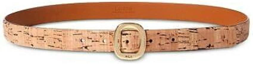 Lauren by Ralph Lauren Rounded-Buckle Cork Belt