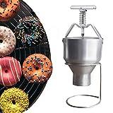 JIAWANSHUN Manual Donut Depositor Donut Maker Dropper Plunger Dough Batter Dispenser Hopper with stand