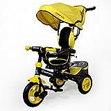 HAIZHEN マウンテンバイク 子供の三輪車1-6歳のシートは自転車カーボンフレームを回転させることができます天井の光インフレータブルゴムタイヤフロントホイールクラッチベビーベビーカー 新生児 (色 : イエロー いえろ゜)