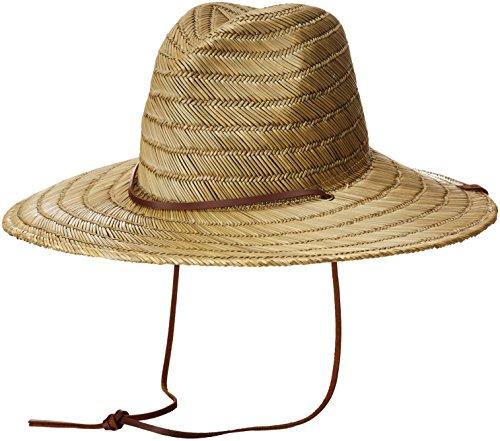 Brixton Men's Bells Extra Wide Brim Straw Fedora Hat, tan, O/S