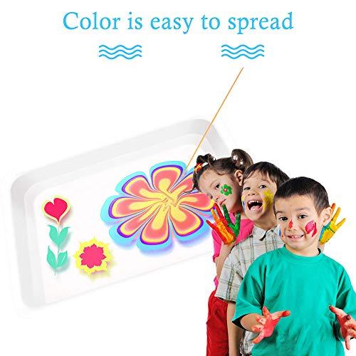 Luccase Mehrfarbig Marmorierung Painting Kit 20 x 14 x 3,8 cm Acrylemulsions-Kohlenstoffpulver Wasser Art Paint Set Wasser-Kunstfarbenset für Farbwahrnehmung
