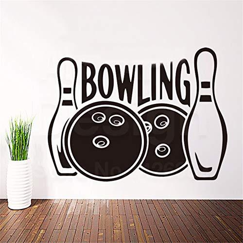 Wandtattoo Schlafzimmer Bowlingkugel Charakter Haus Dekoration Sport Worte Decals