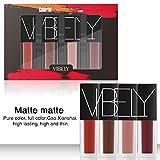 doubleer mate brillo de labios Líquido Kit de pintalabios larga duración impermeable mujeres labios maquillaje belleza cosméticos
