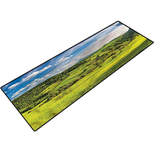 Tuscany Outdoor Mat Tuscany Italy Farms Soft and Absorbent Bath Rug for Shower Room 18x30 Inch