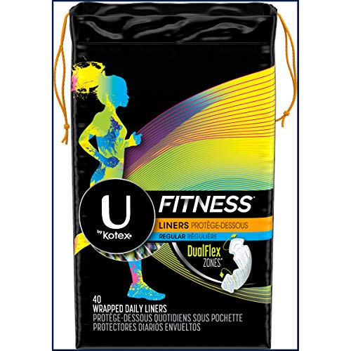 U by Kotex Fitness Regular Liners - 40 ct, Pack of 3